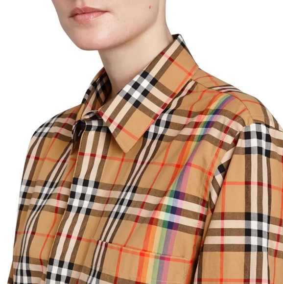 Burberry Rainbow check shirt